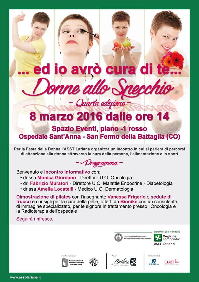 Donne allo specchio l 8 marzo 2016 associazione centro di riferimento oncologico tullio - L immagine allo specchio streaming ...