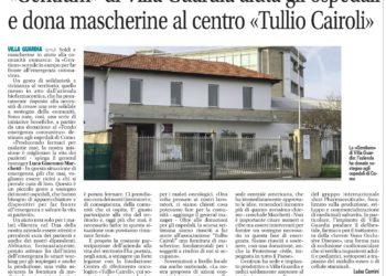 """""""GENTIUM"""" di Villa Guardia aiuta gli ospedali e dona mascherine al centro """"Tullio Cairoli"""""""